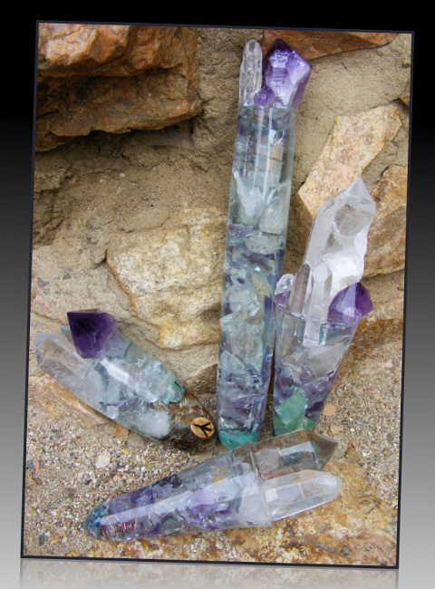 turquoise amethyst light wands