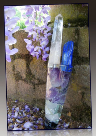 lapis quartz crystal